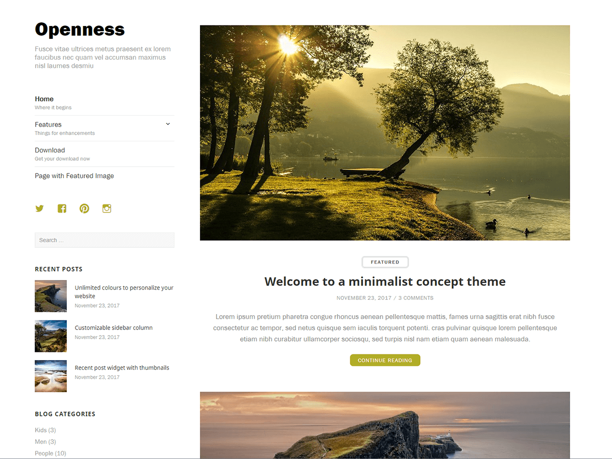 Openness Download Free Wordpress Theme 3
