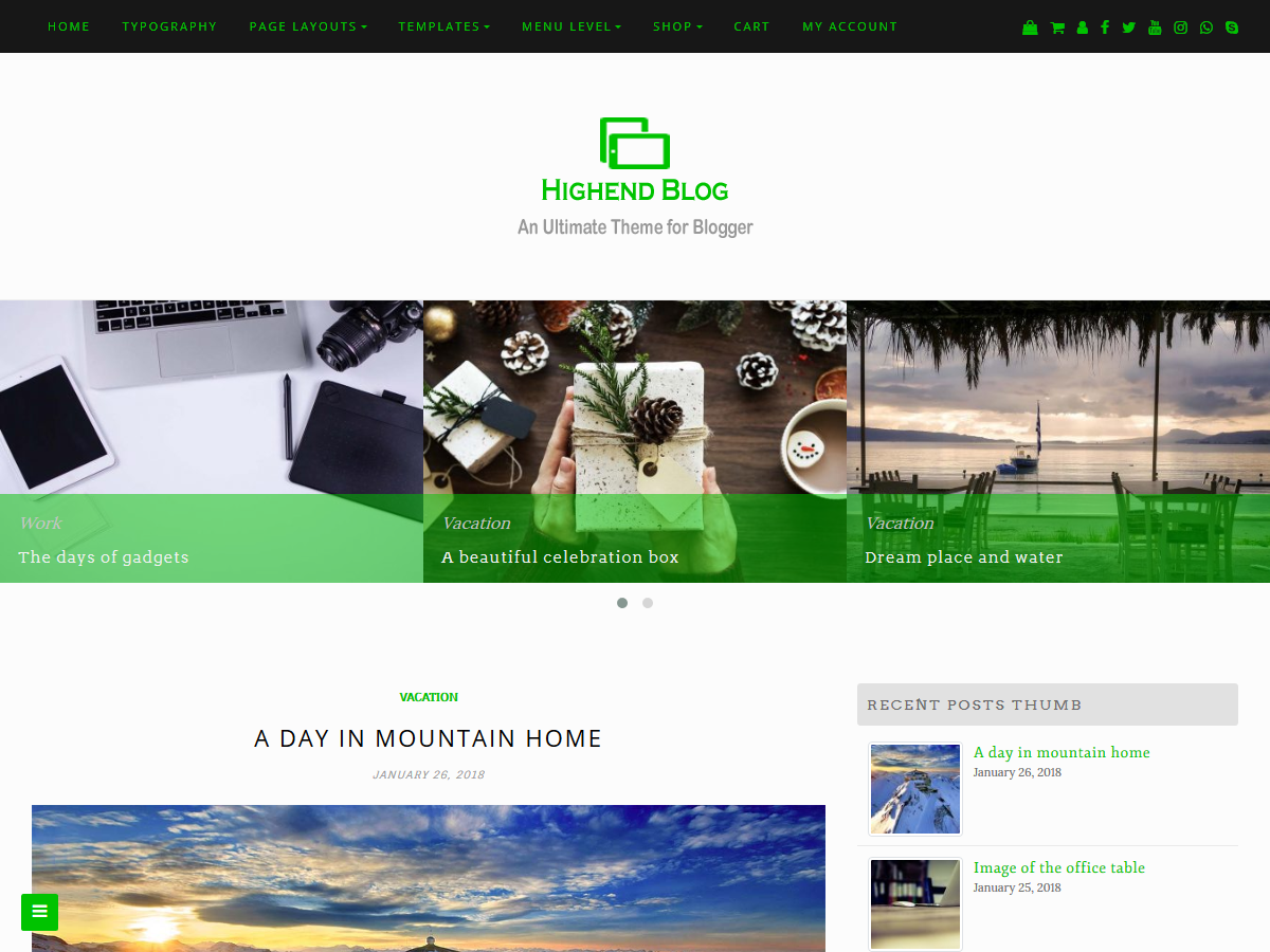 Highend Blog Download Free Wordpress Theme 5