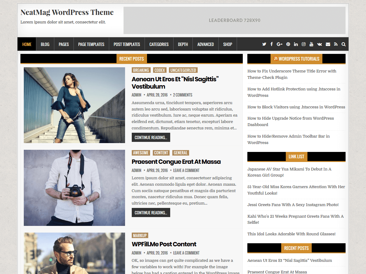 NeatMag Download Free Wordpress Theme 2