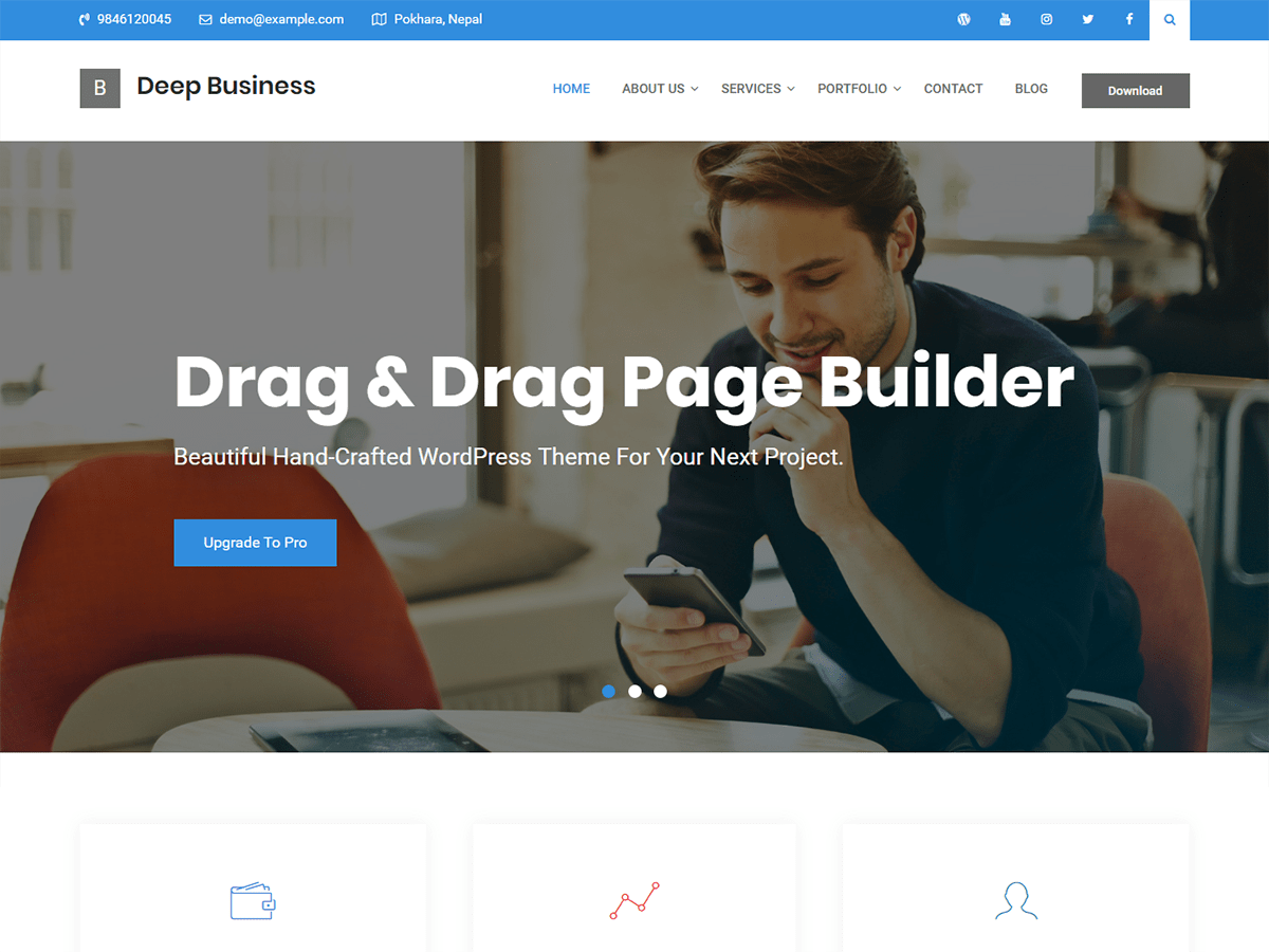 Deep Business Download Free WordPress Theme