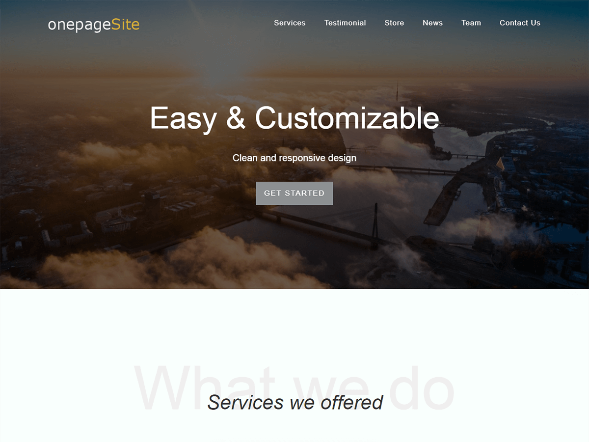 One Page Site Download Free Wordpress Theme 5