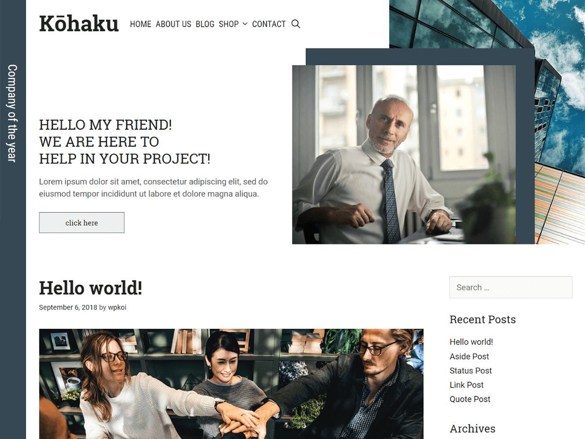 Kohaku Download Free Wordpress Theme 3
