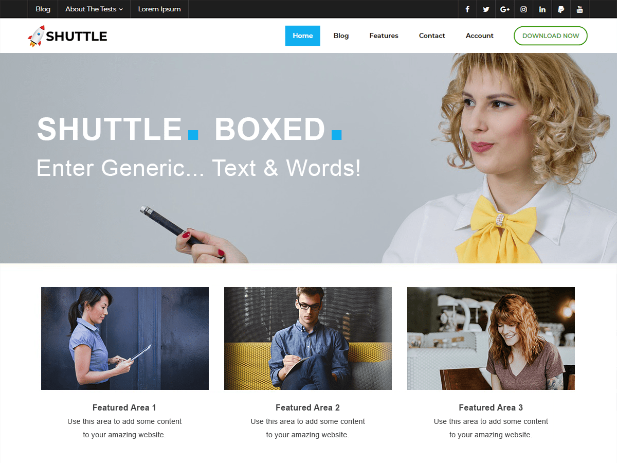 Shuttle Boxed Download Free Wordpress Theme 2