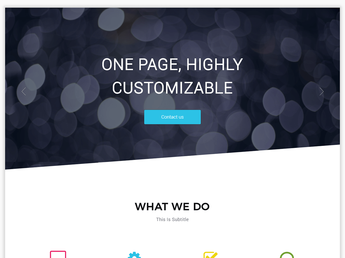 One Page Boxed Download Free Wordpress Theme 4