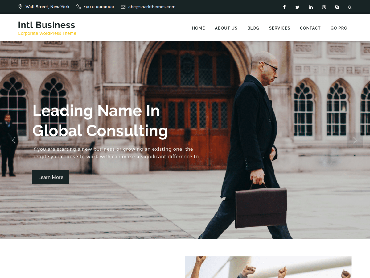 Intl Business Download Free Wordpress Theme 2
