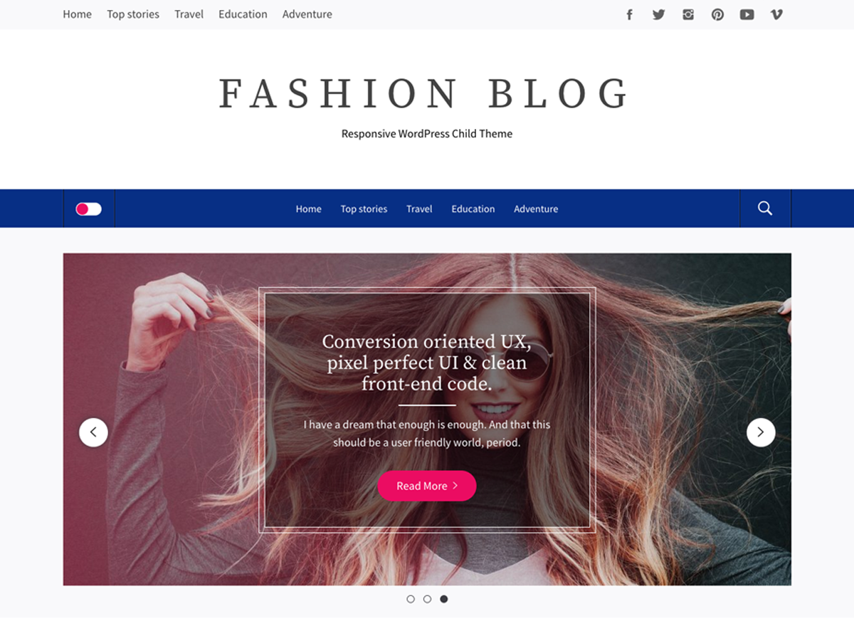 Fashion Blog Download Free Wordpress Theme 5