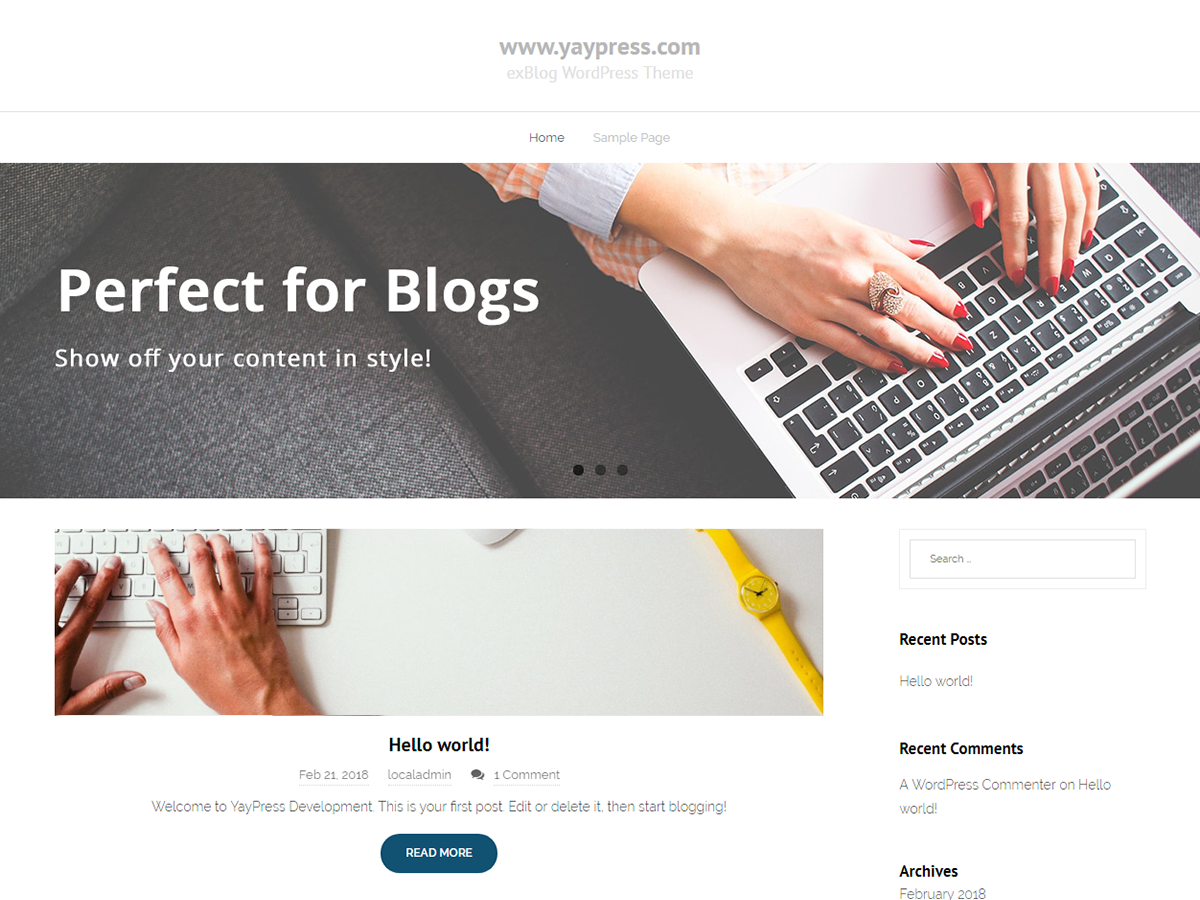 exBlog Download Free Wordpress Theme 5