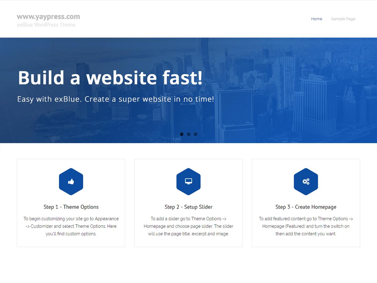 exBlue Download Free Wordpress Theme 5