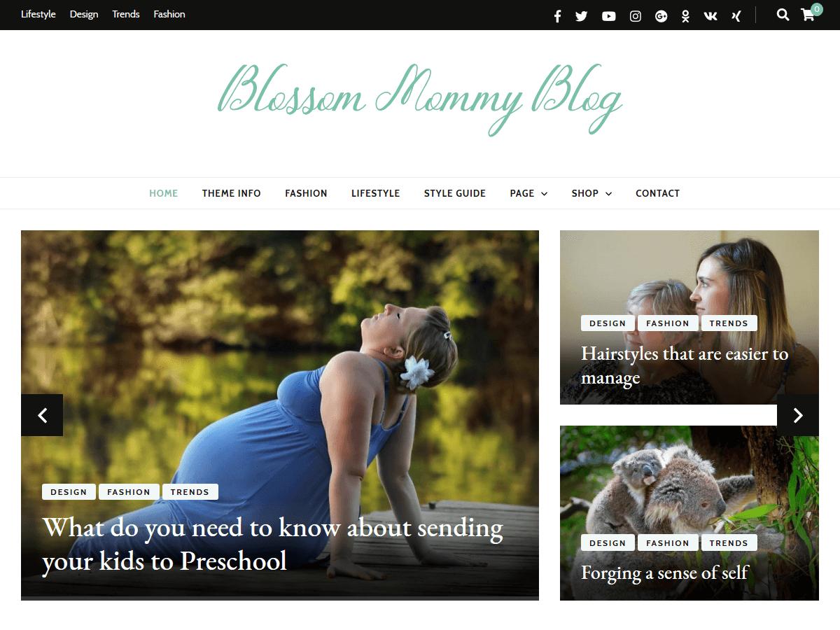 Blossom Mommy Blog Download Free Wordpress Theme 3