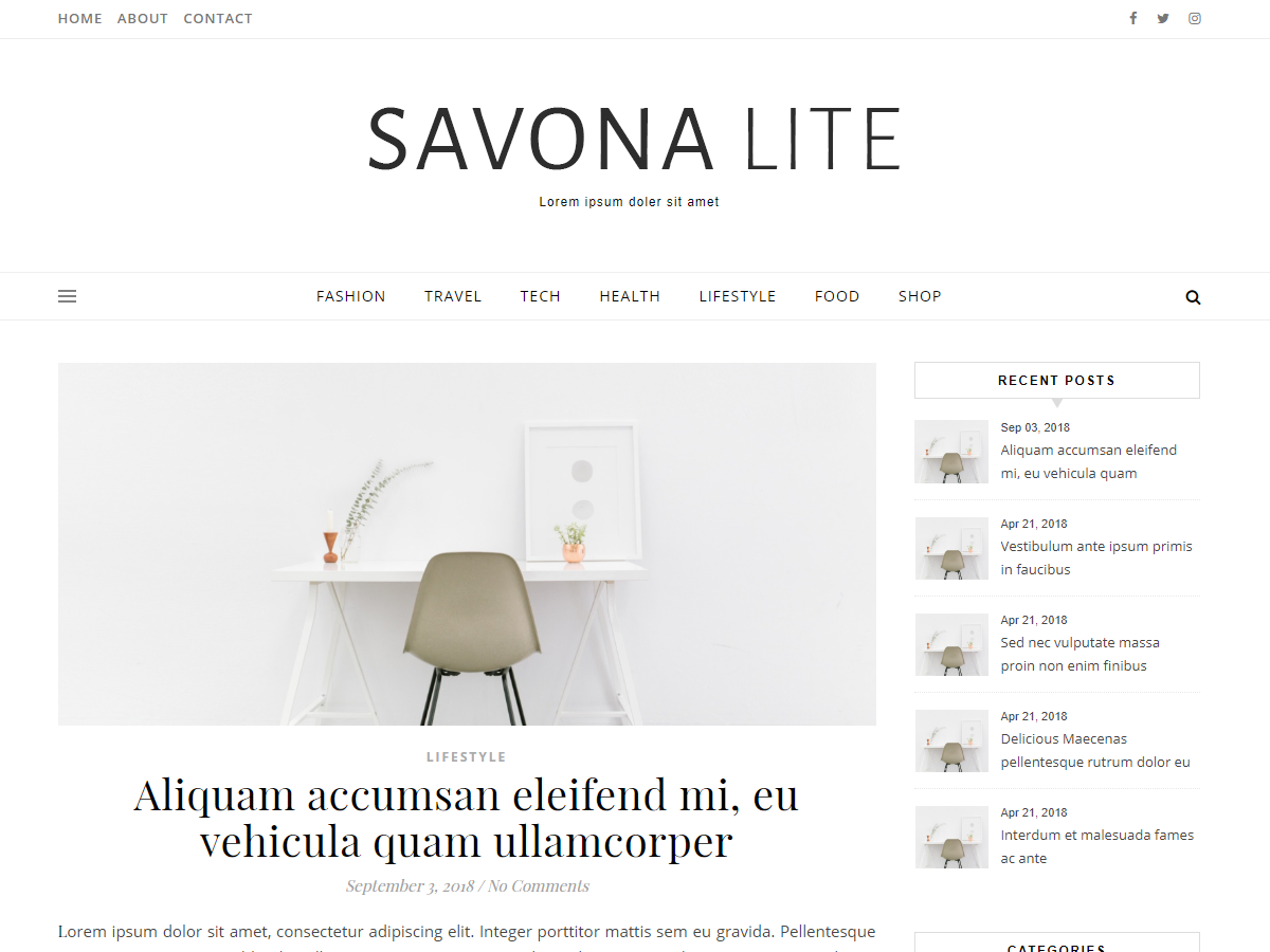 Savona Lite Download Free Wordpress Theme 3