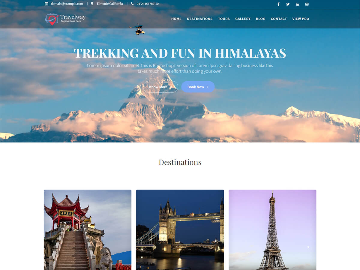 Travel Way Download Free Wordpress Theme 1