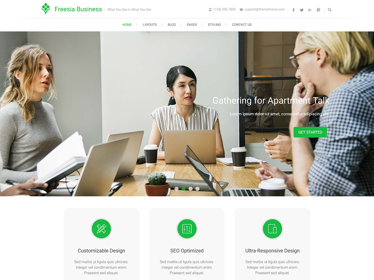Freesia Business Download Free Wordpress Theme 2