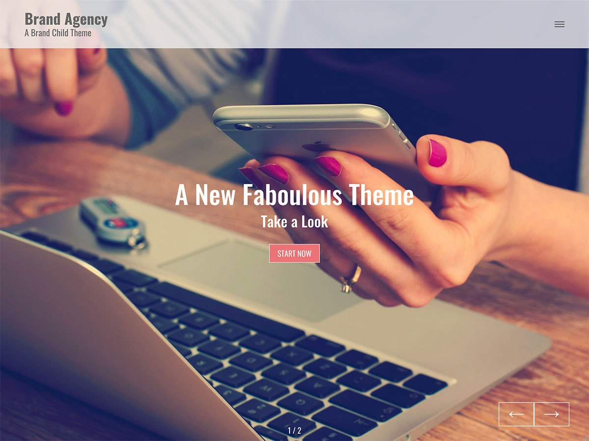 Brand Agency Download Free Wordpress Theme 1