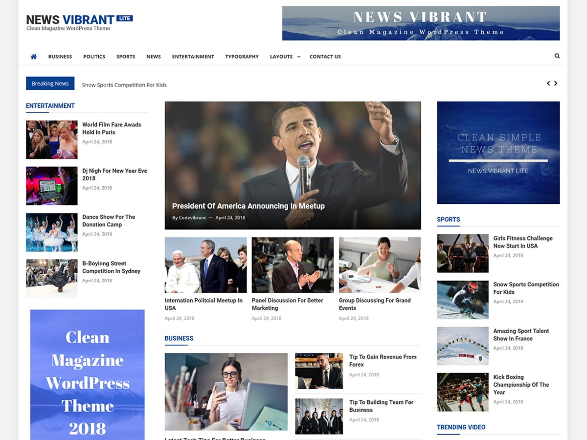 News Vibrant Lite Download Free Wordpress Theme 1