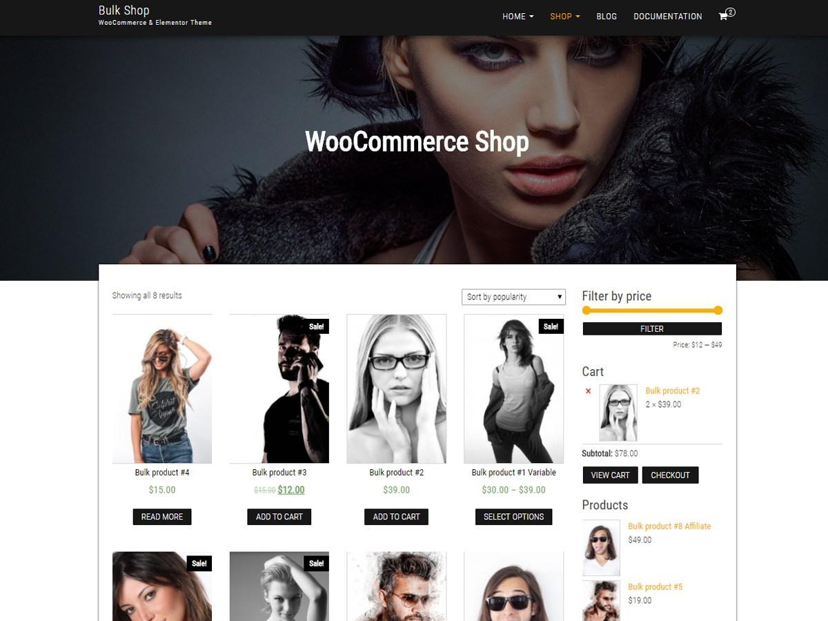 Bulk Shop Download Free Wordpress Theme 2
