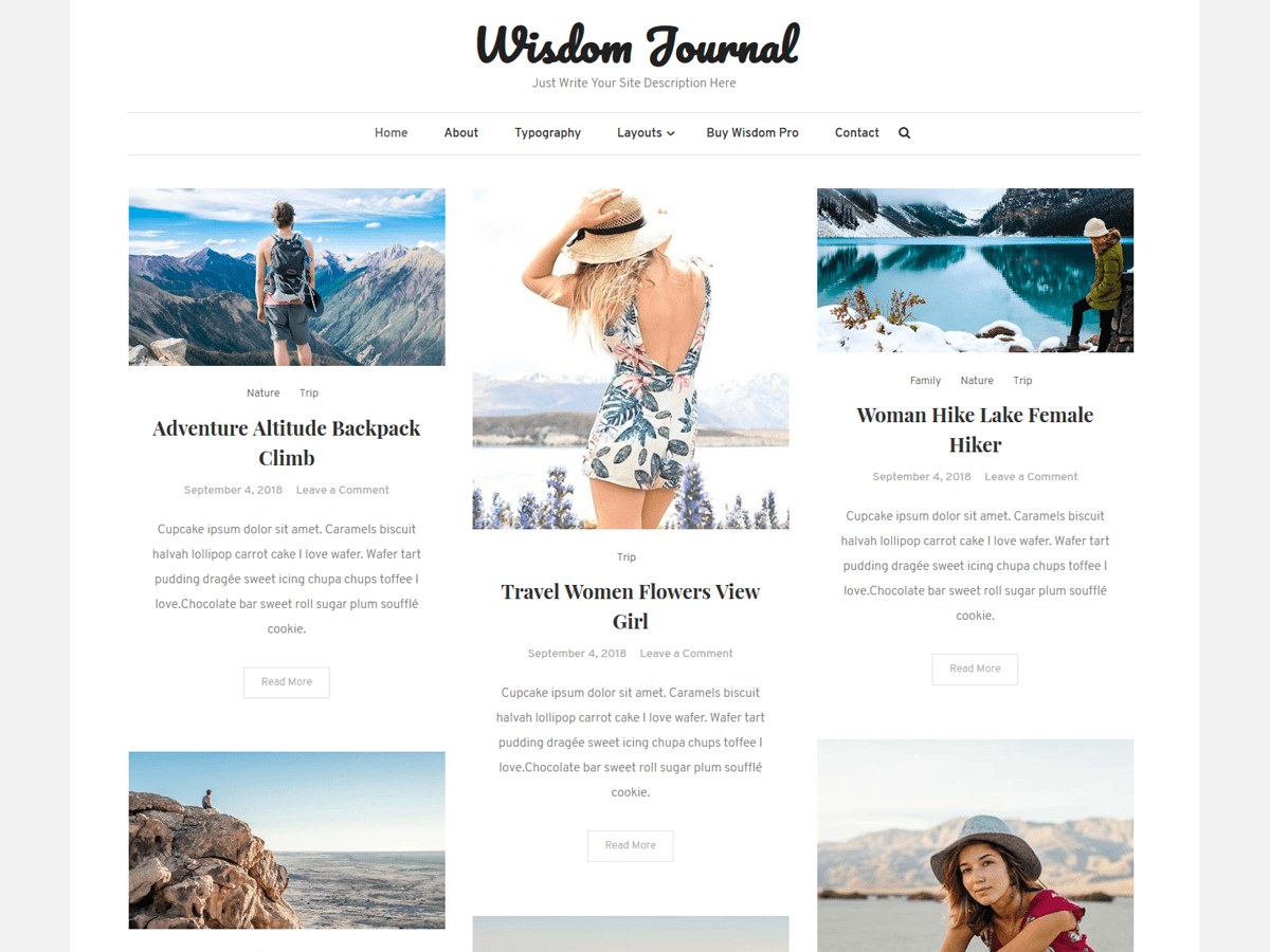 Wisdom Journal Download Free Wordpress Theme 5