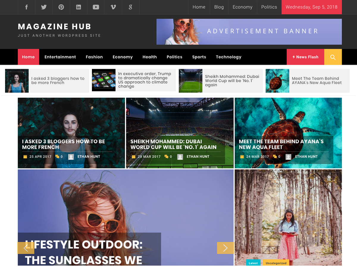 Magazine Hub Download Free Wordpress Theme 3