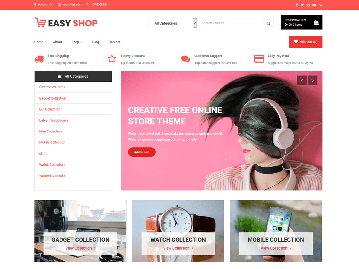 Easy Shop Download Free Wordpress Theme 3
