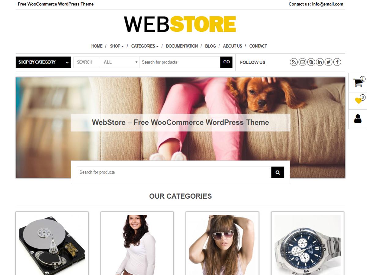 WebStore Download Free Wordpress Theme 4