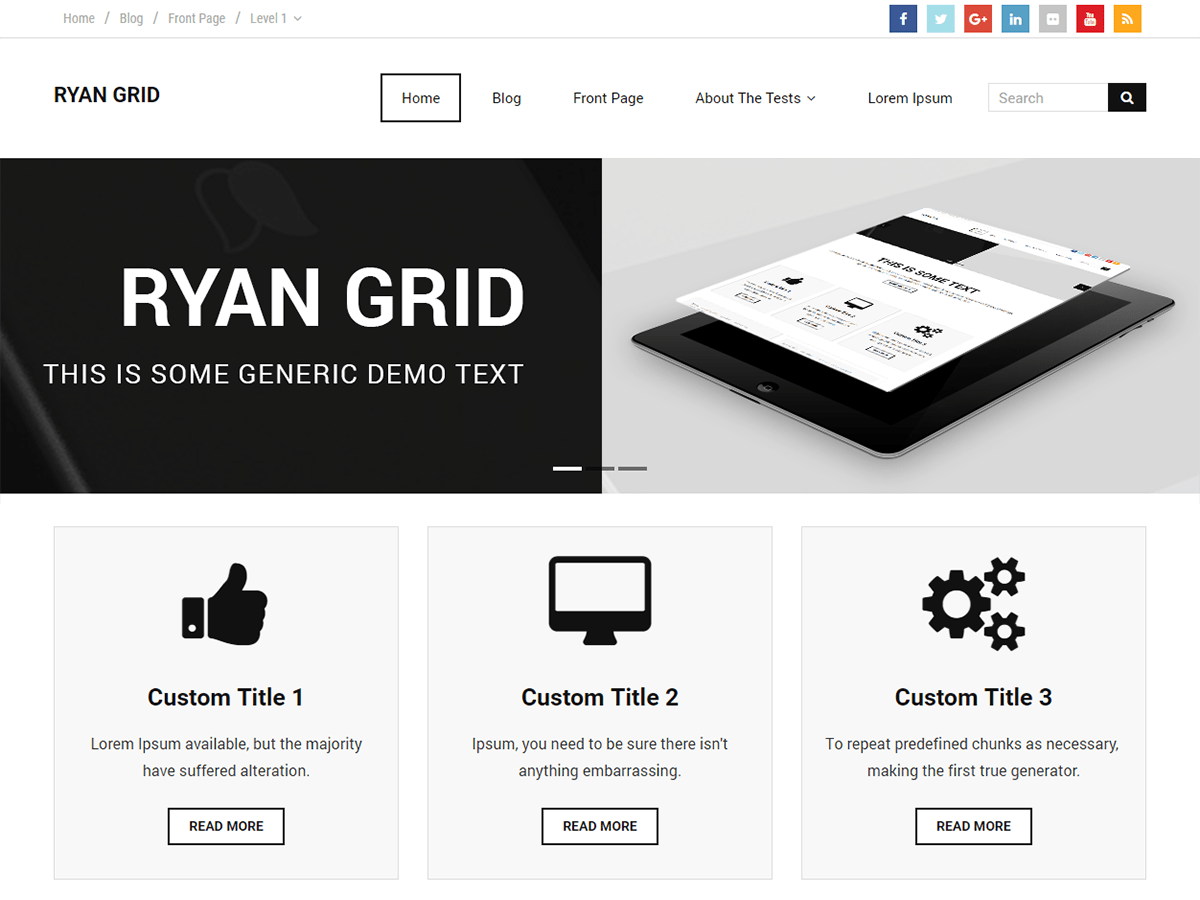 Ryan Grid Download Free Wordpress Theme 2
