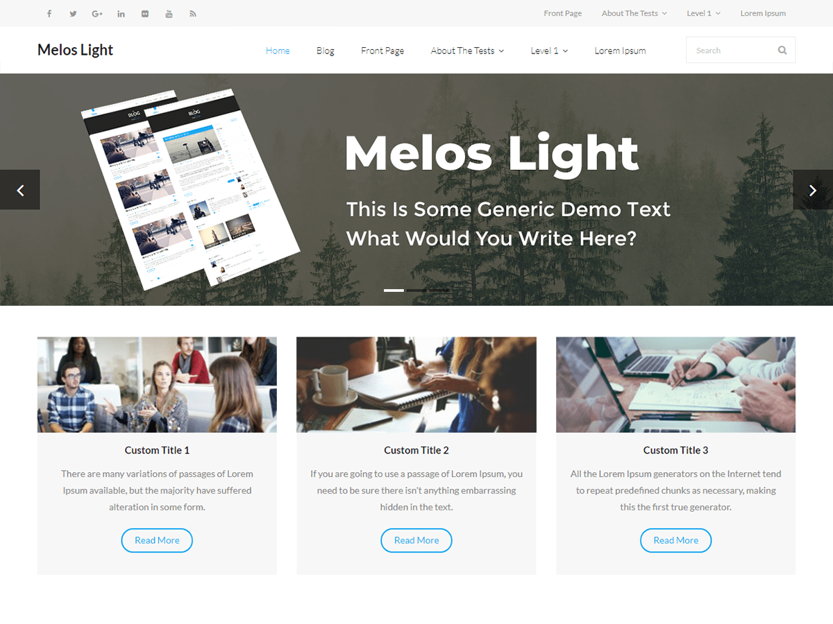 Melos Light Download Free Wordpress Theme 4