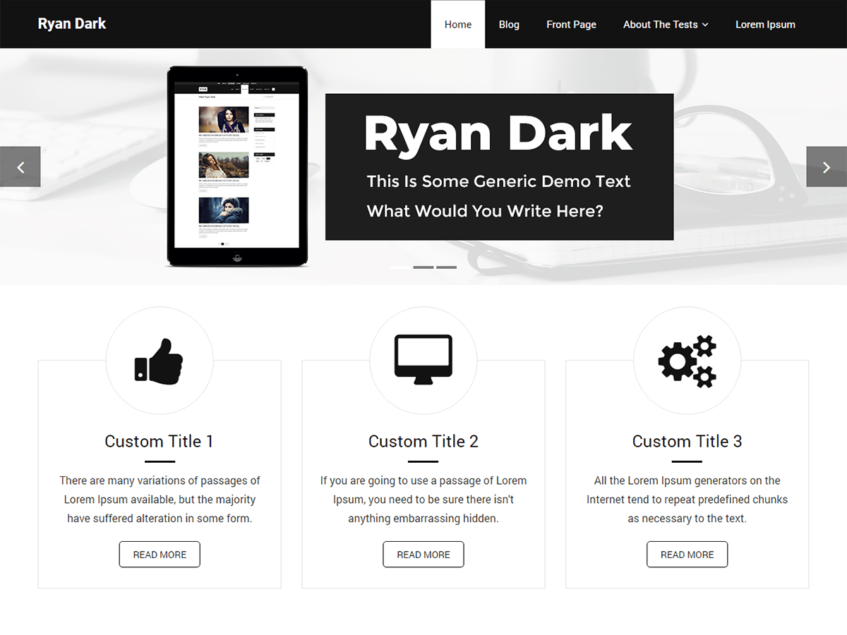 Ryan Dark Download Free Wordpress Theme 1