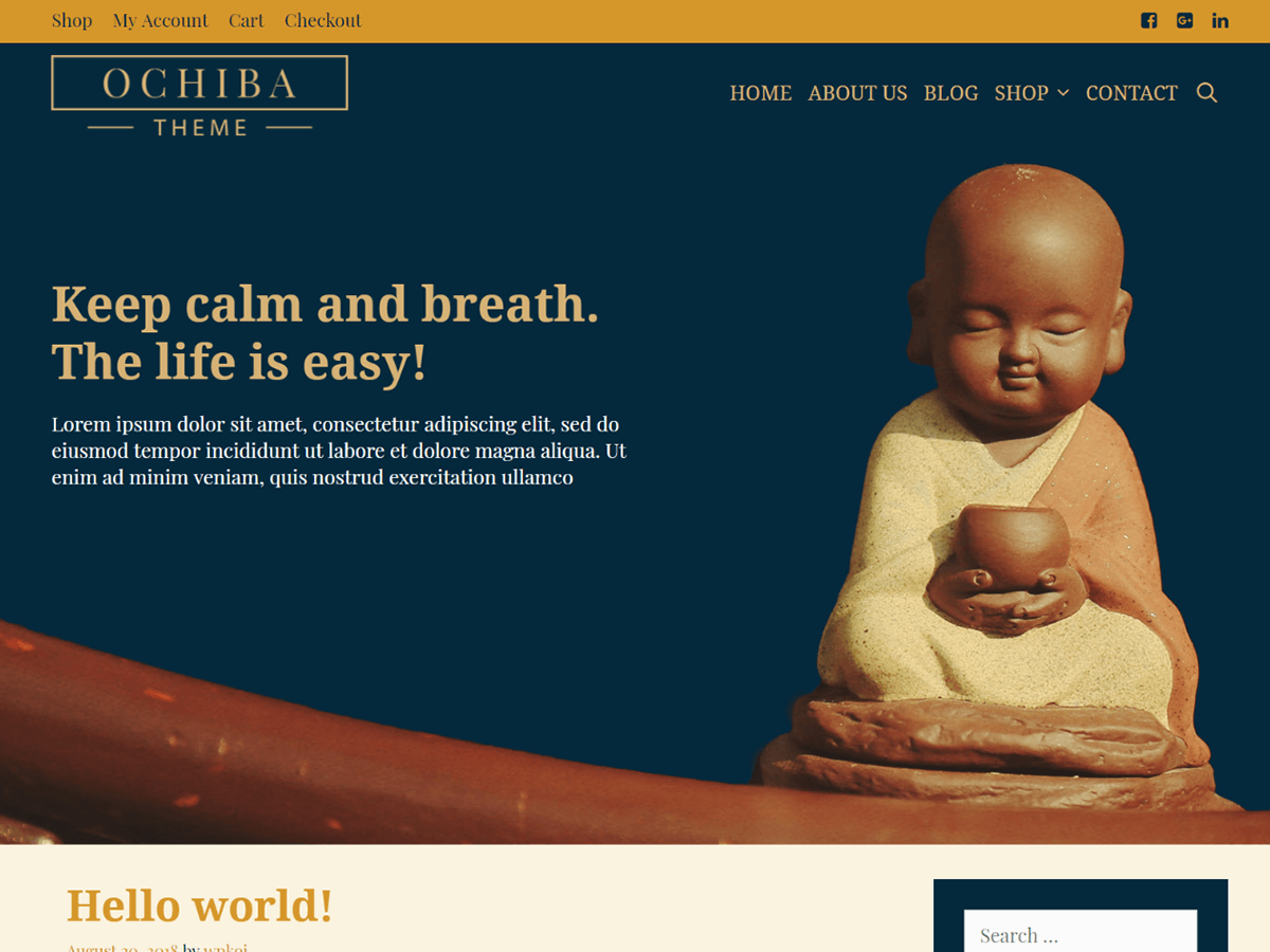 Ochiba Download Free Wordpress Theme 1