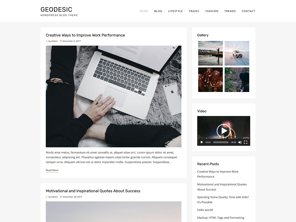 Geodesic Download Free Wordpress Theme 2