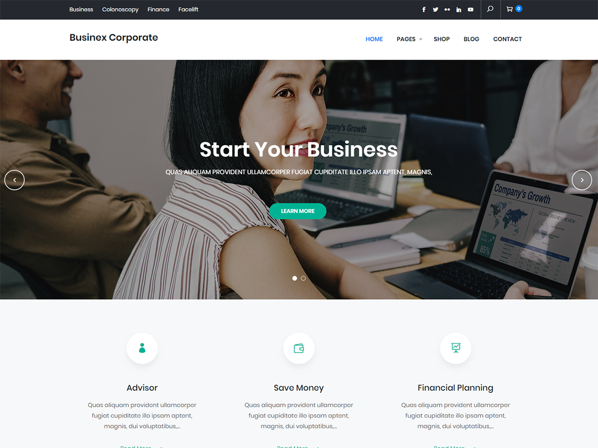 Businex Corporate Download Free Wordpress Theme 4