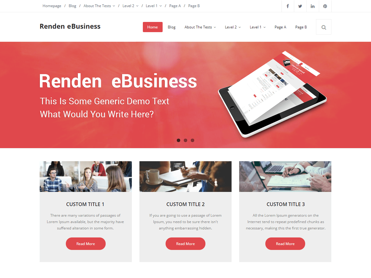 Renden eBusiness Download Free Wordpress Theme 2
