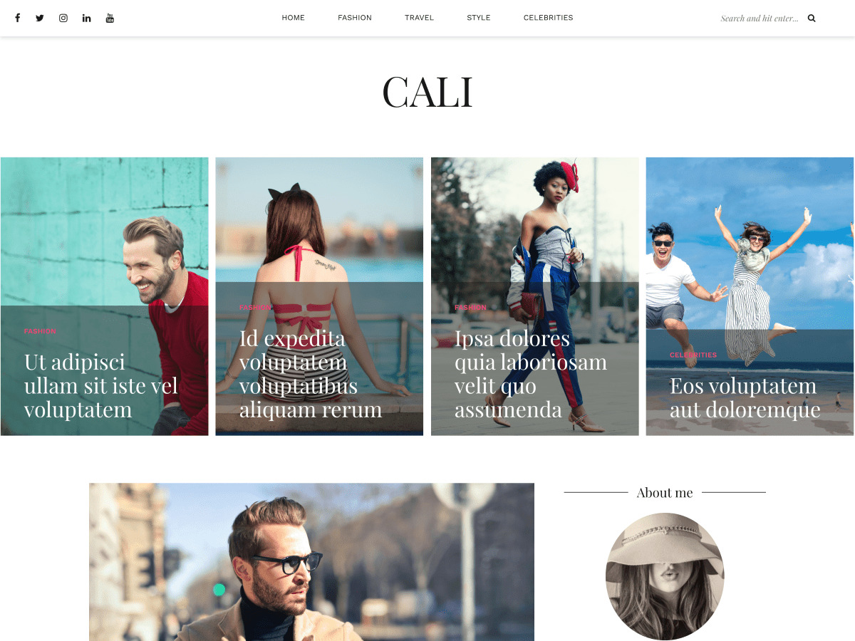 Cali Download Free Wordpress Theme 2
