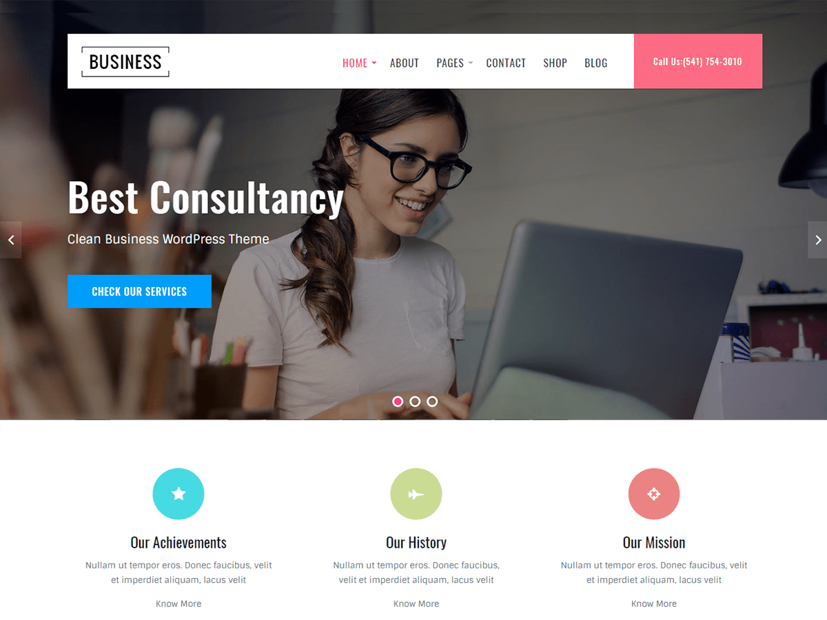 Business Key Download Free Wordpress Theme 5