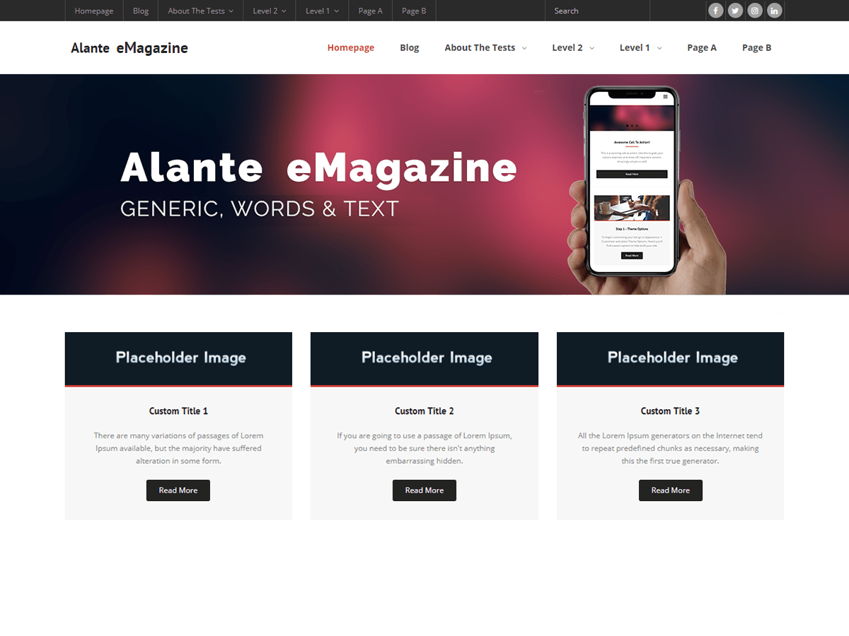 Alante eMagazine Download Free Wordpress Theme 5