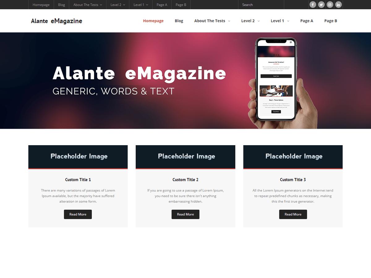 Alante eMagazine Download Free Wordpress Theme 4