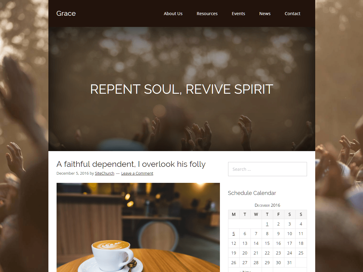 Grace Download Free Wordpress Theme 2