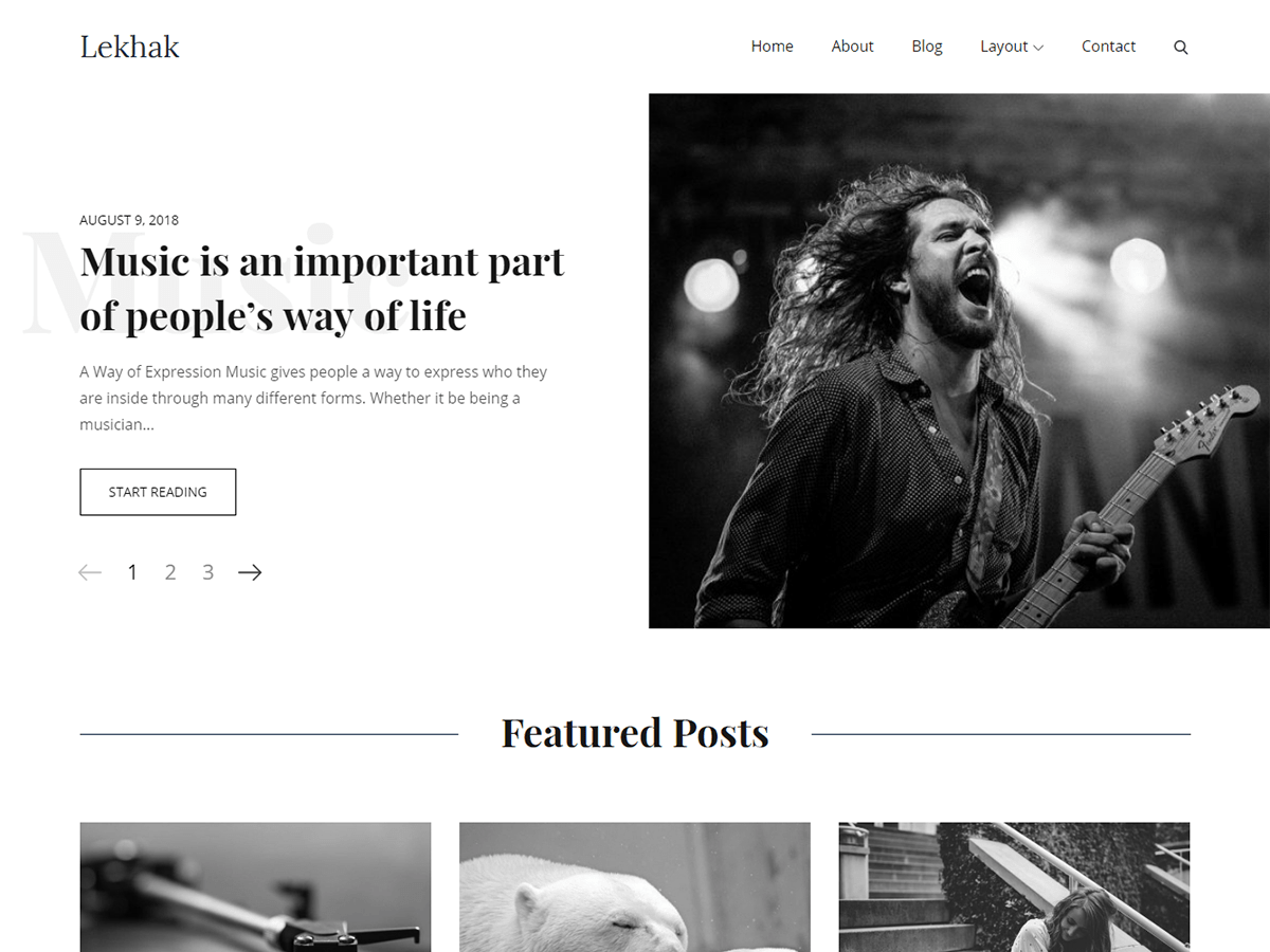 Lekhak Download Free Wordpress Theme 4