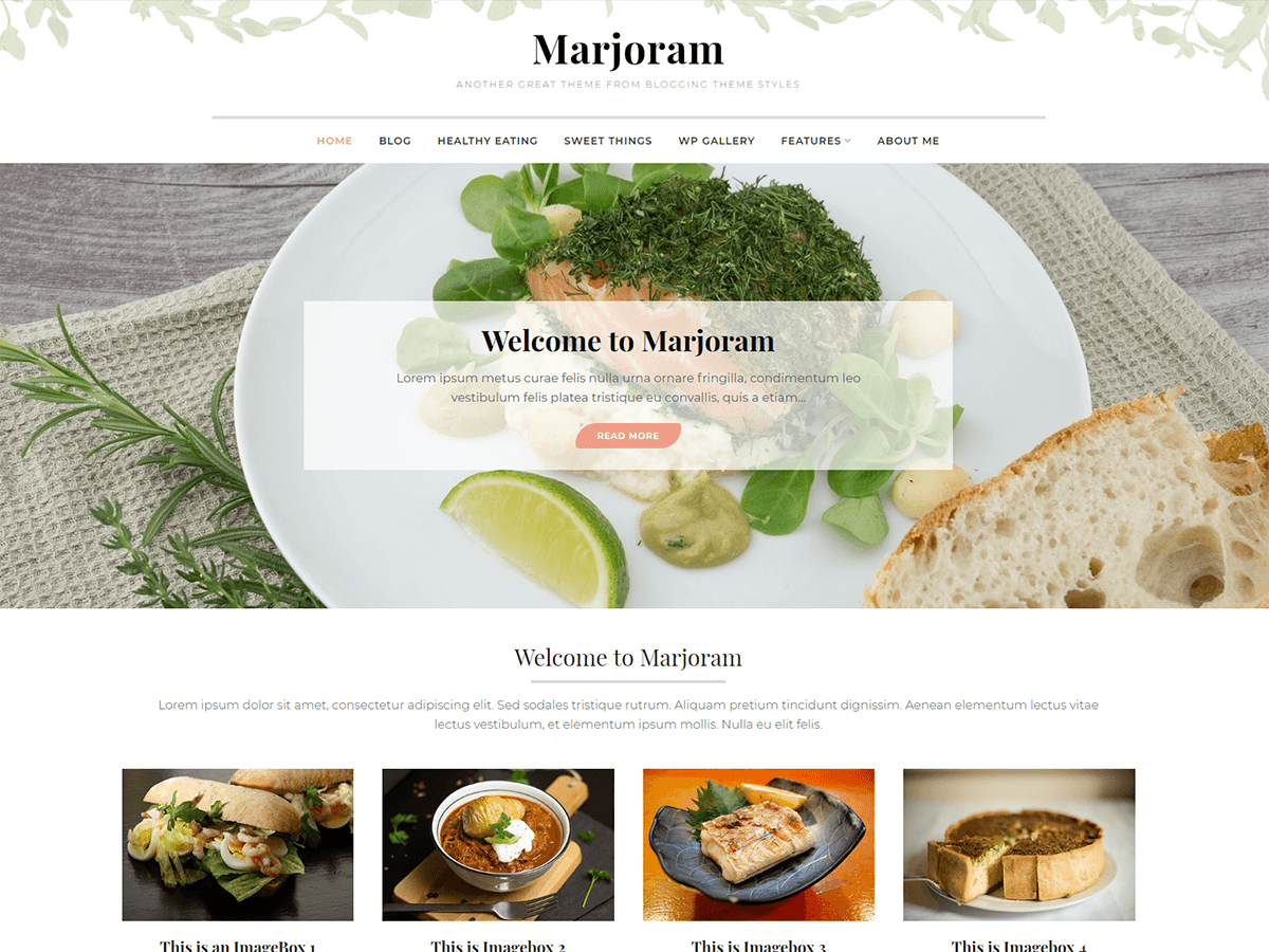 Marjoram Download Free Wordpress Theme 3