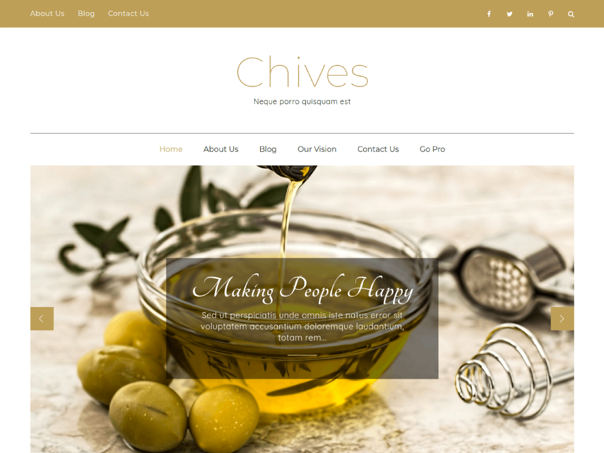 Chives Download Free WordPress Theme