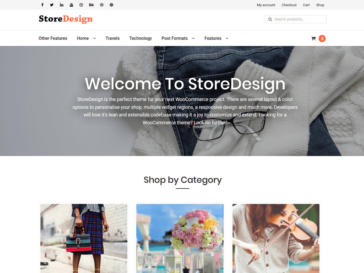 StoreDesign Download Free Wordpress Theme 5