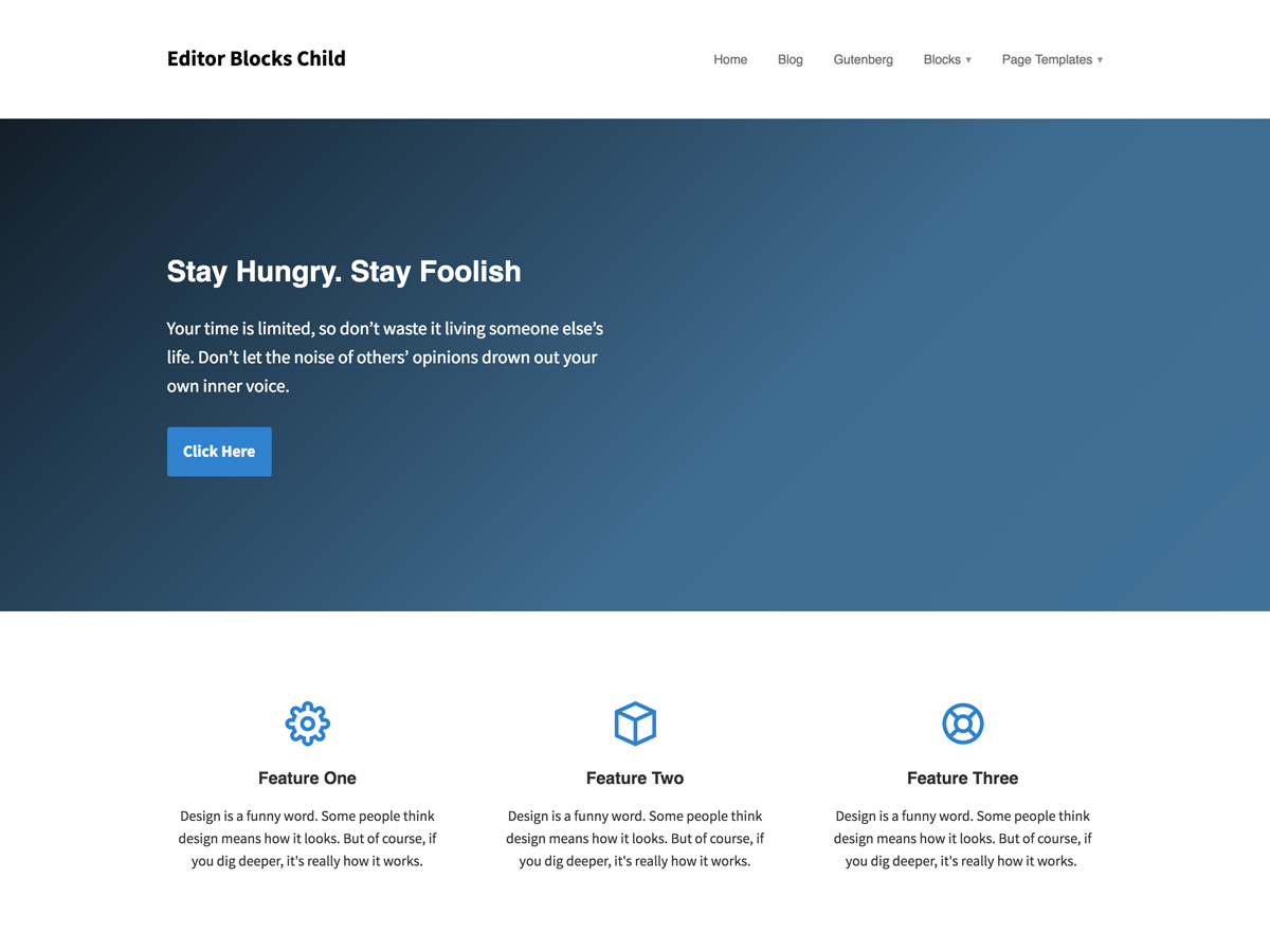 Editor Blocks Child Download Free Wordpress Theme 2