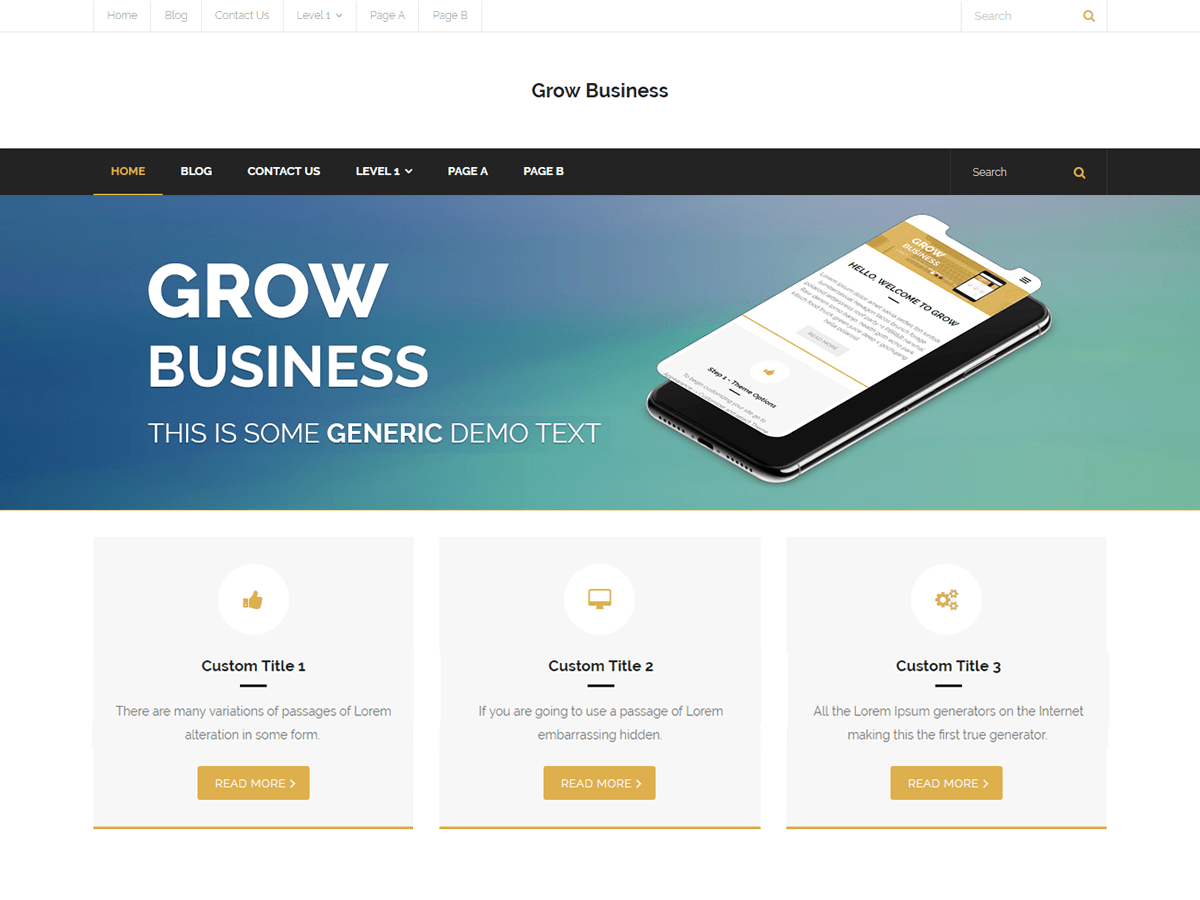 Grow Business Download Free Wordpress Theme 5