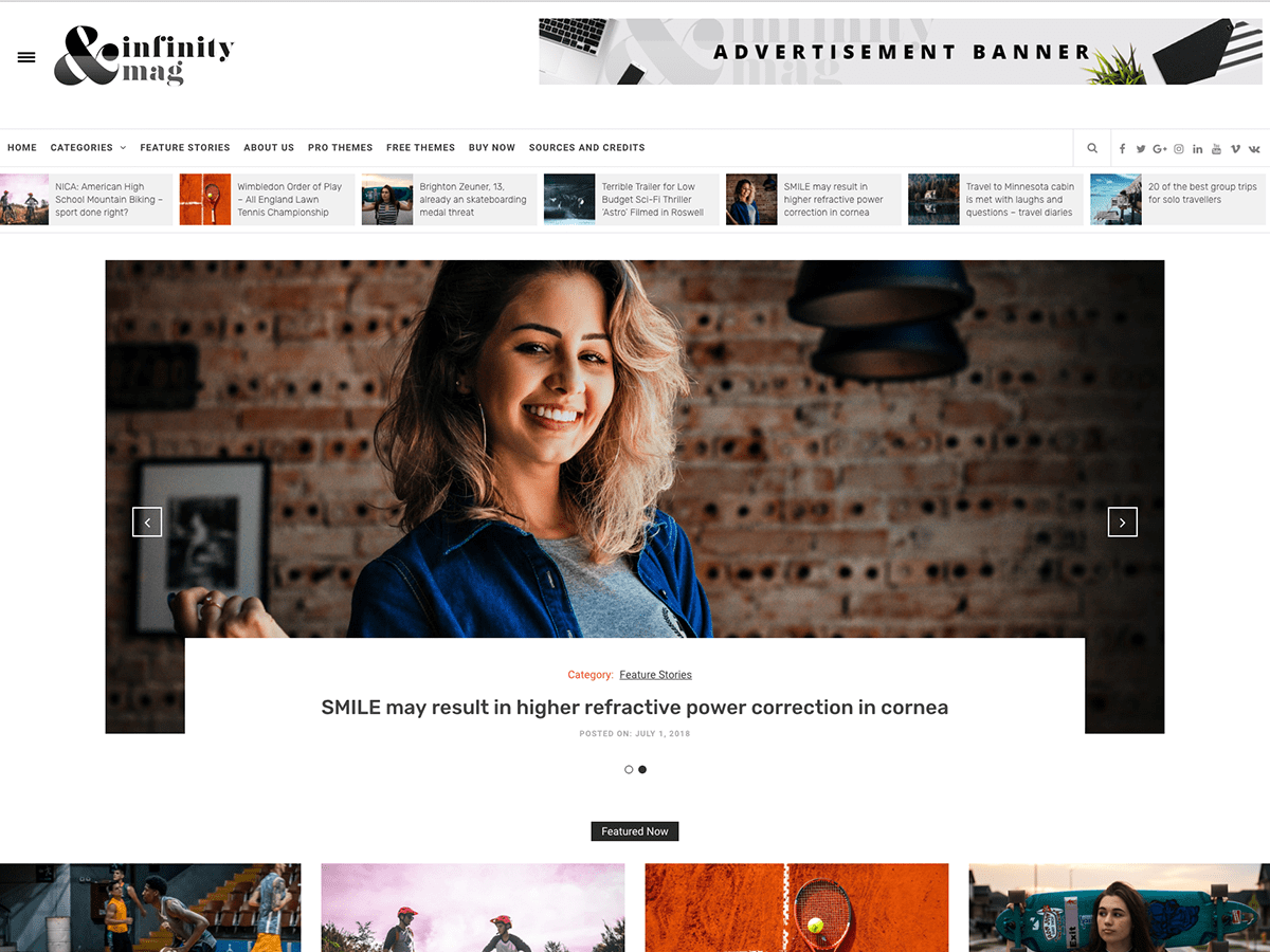 Infinity Mag Download Free Wordpress Theme 1