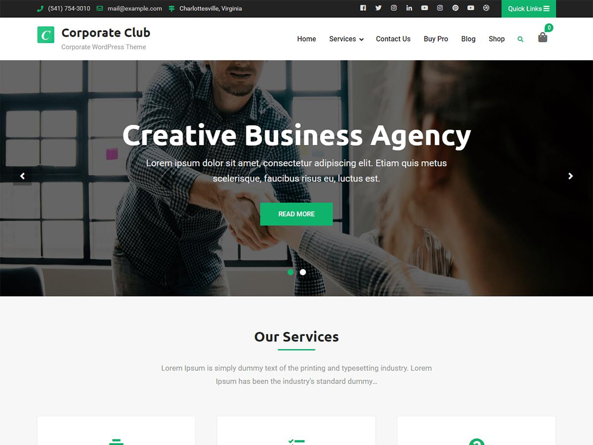 Corporate Club Download Free Wordpress Theme 2