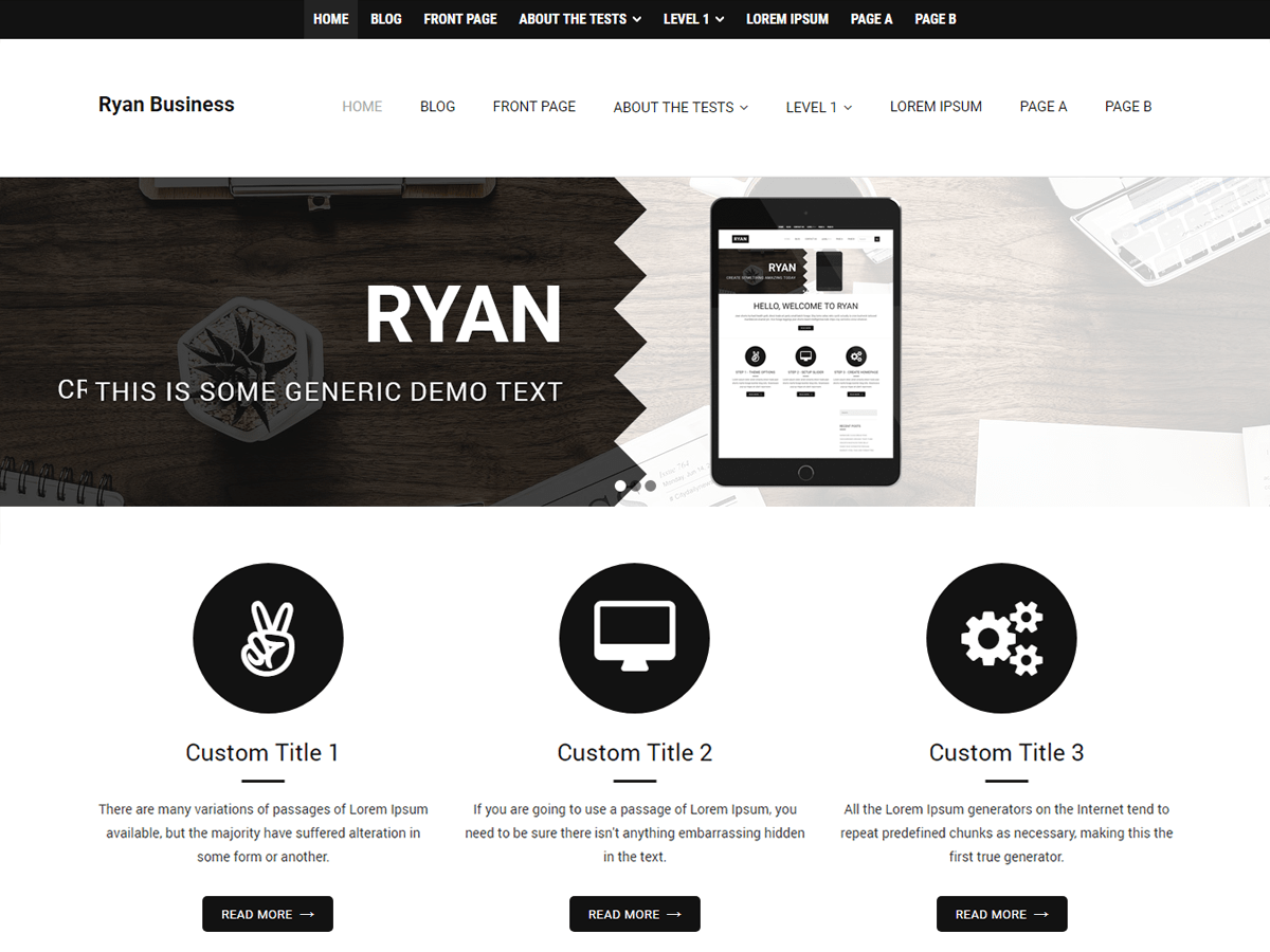 Ryan Business Download Free Wordpress Theme 3