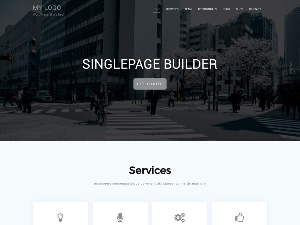 Singlepage Builder Download Free Wordpress Theme 2