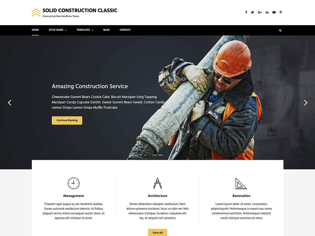 Solid Construction Classic Download Free Wordpress Theme 1
