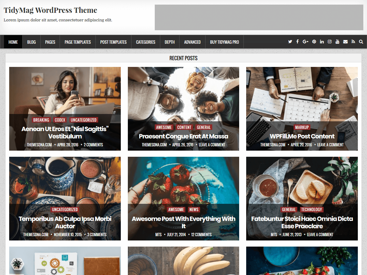 TidyMag Download Free Wordpress Theme 1