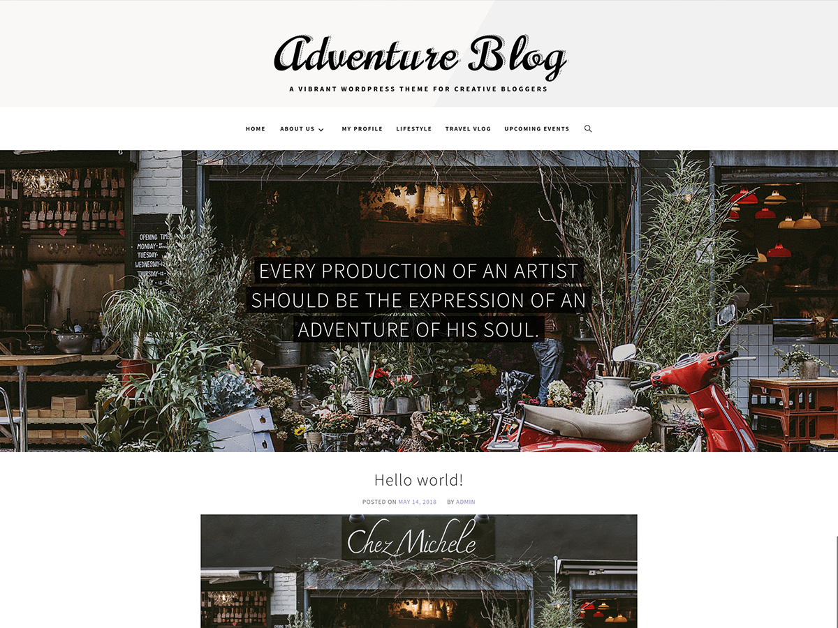 Adventure Blog Download Free Wordpress Theme 5