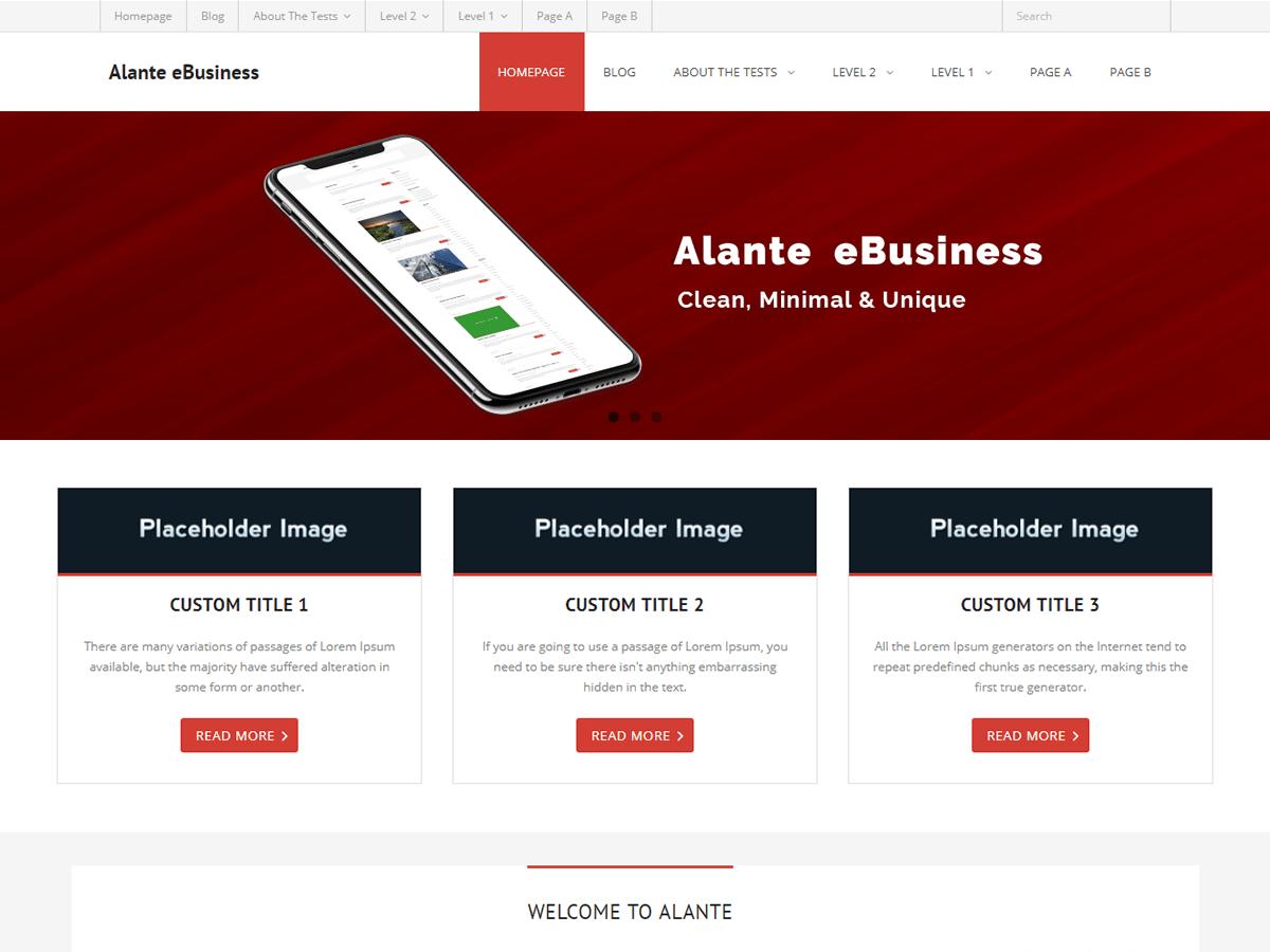 Alante eBusiness Download Free Wordpress Theme 4