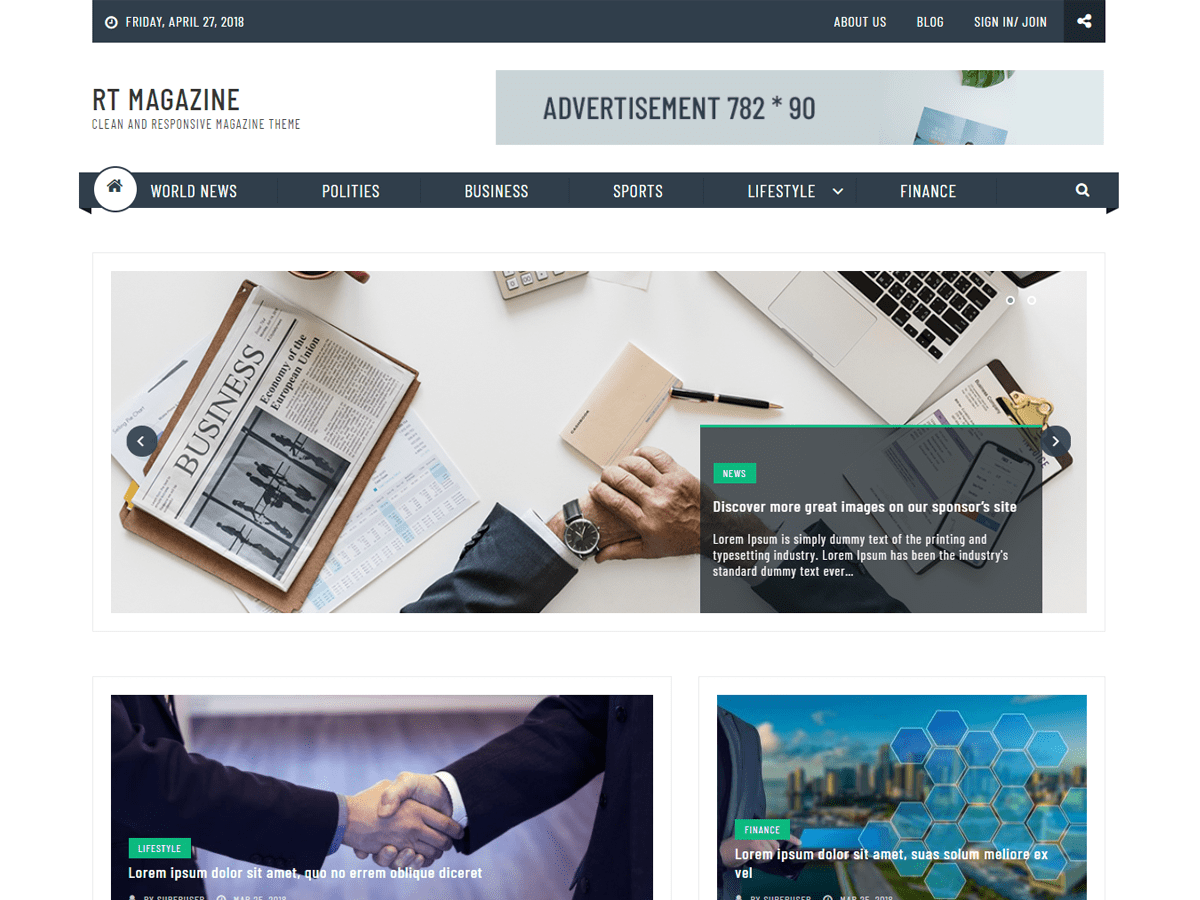 RT Magazine Plus Download Free Wordpress Theme 4